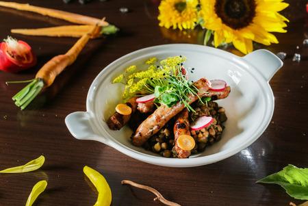 lentil with sausage Zdjęcie Seryjne