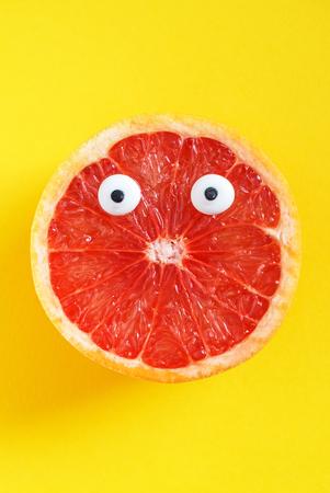 grappige grapefruit Stockfoto