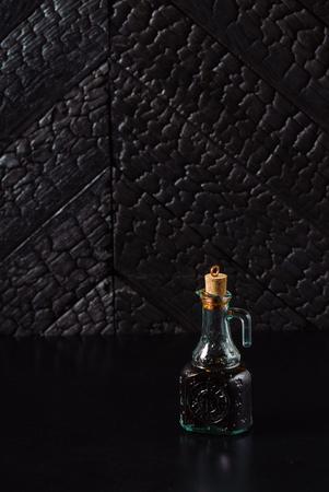 Noir brûlé texture en bois Banque d'images - 82570559