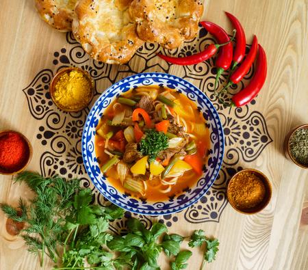 uzbek: uzbek soup