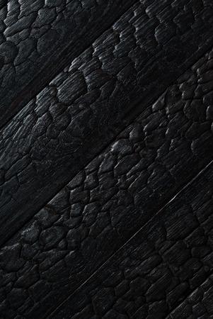 Black burnt wooden texture Stock fotó - 82569705