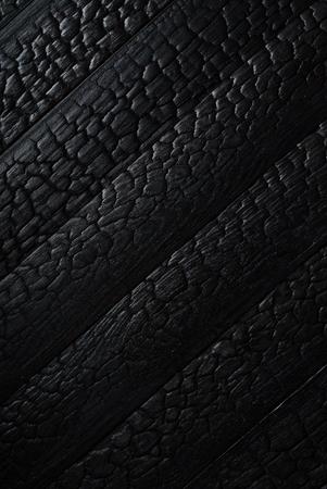 Zwart gebrande houten textuur
