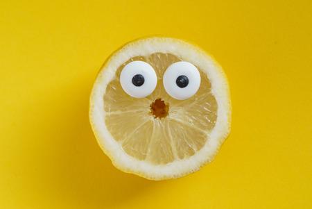 grappige citroen Stockfoto
