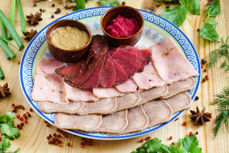 meat appetizer with sauce Stock Photo - 83108430