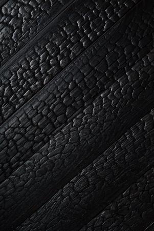 Black burnt wooden texture