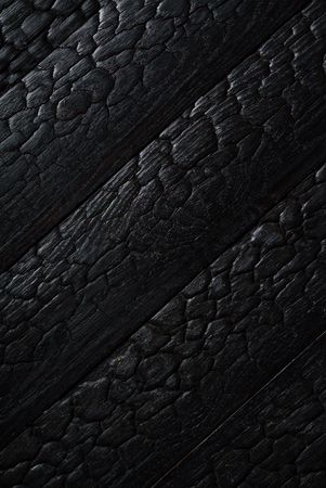 Black burnt wooden texture Stock fotó - 83108830
