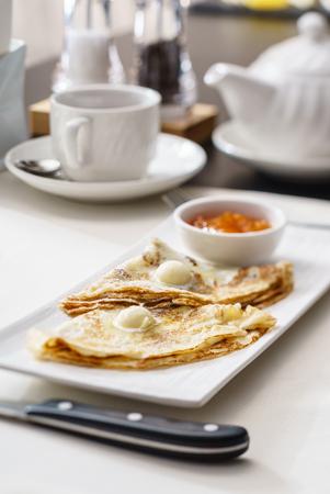sweet pancakes Banco de Imagens