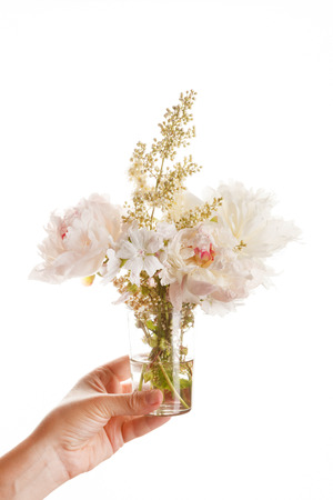 white bouquet Stock Photo