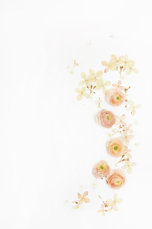 flowers on the white Stock Photo