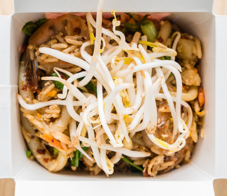 asian food in the box Stock Photo