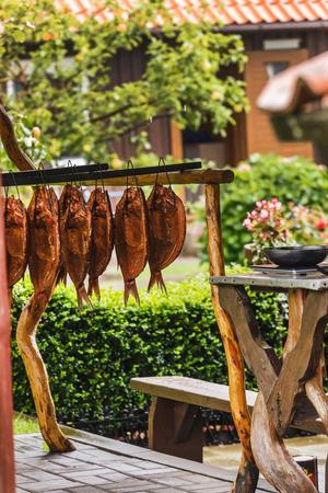 魚の燻製 写真素材