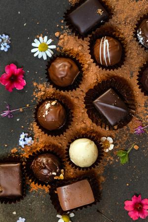 chocoladesnoepjes Stockfoto