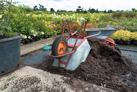 Werk in de tuin Stockfoto - 85012105