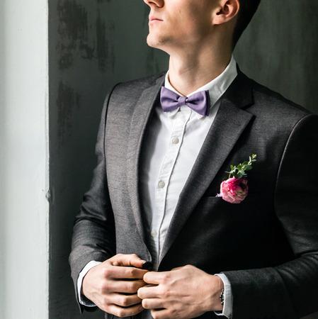 elegant groom