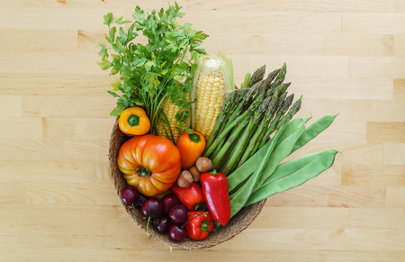 fresh vegetables in the basket Stock Photo