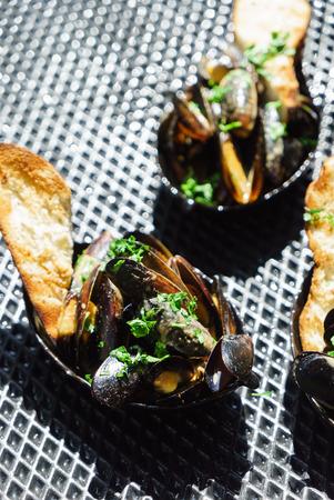 grilled mussels Reklamní fotografie