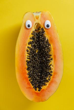 funny papaya Stok Fotoğraf - 85688869