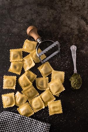 fresh ravioli Imagens