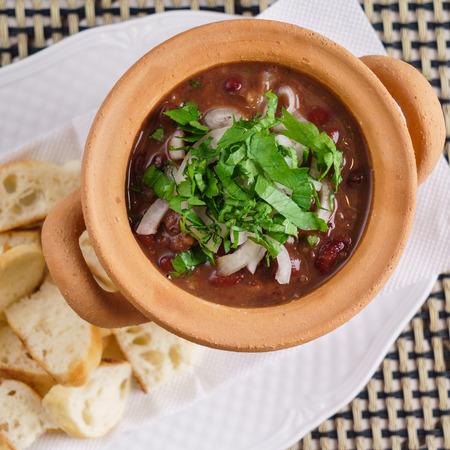 小豆と Lobio グルジア料理 写真素材