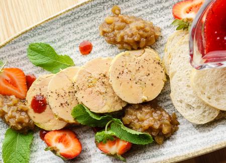 foie gras with sauce Archivio Fotografico