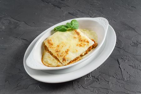 klassieke lasagne Stockfoto