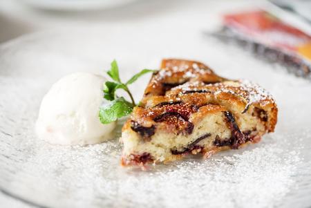 아이스크림 가을 케이크
