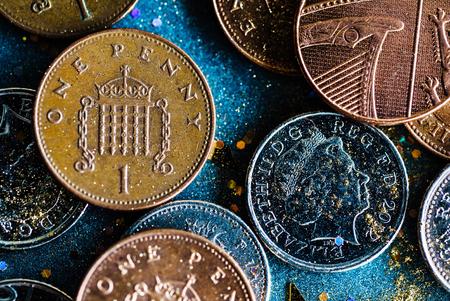 영어 동전 스톡 콘텐츠