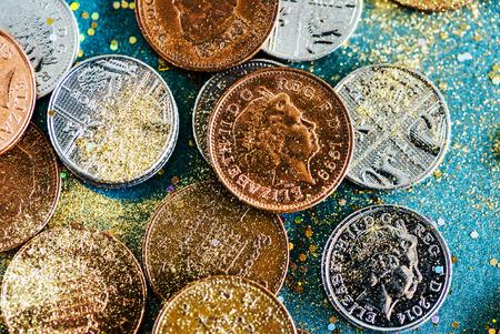 english coins 版權商用圖片 - 86748237