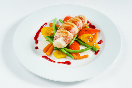stuffed chicken with vegetables
