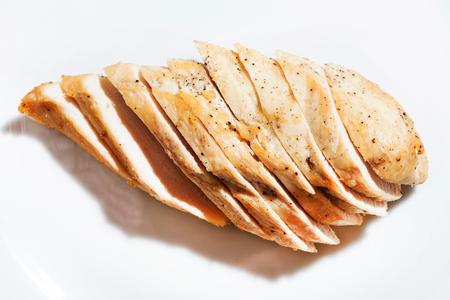 スライスチキン胸肉 写真素材