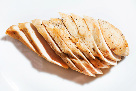 sliced chicken breast Stock Photo