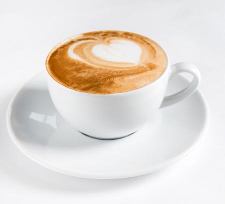kopje cappuccino Stockfoto