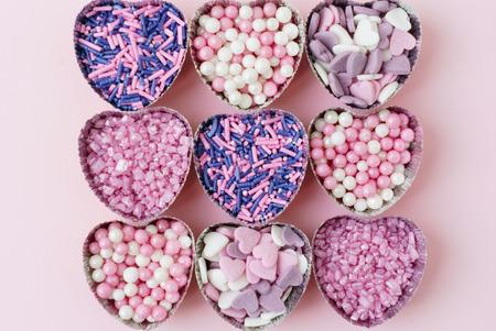 sugar hearts Banco de Imagens