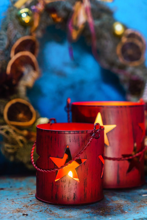 decorating: Christmas candles