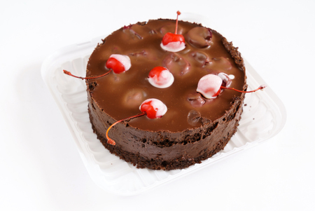 chocolate cake with cherries