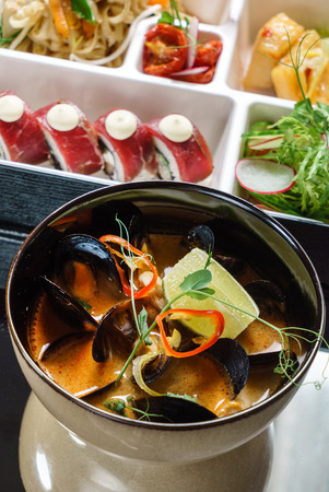 mussel: bento box and soup