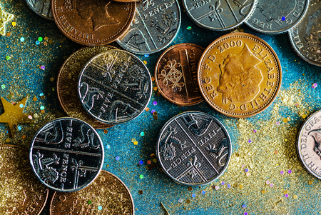 english coins Stock Photo