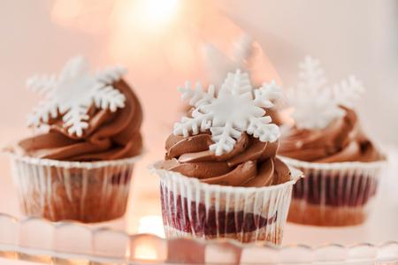 Kerst cupcakes Stockfoto