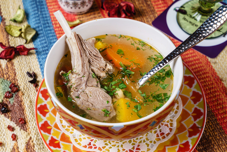 soup with veal