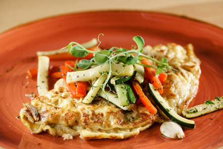 omelet with vegetables Stock Photo