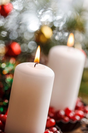 Christmas decorations with a candles Stock fotó - 88317163