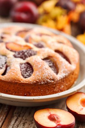 plum cake Stock Photo