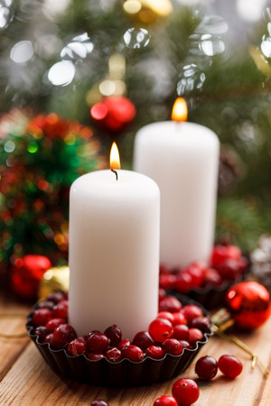 Christmas decorations with a candles Stock fotó - 88360011