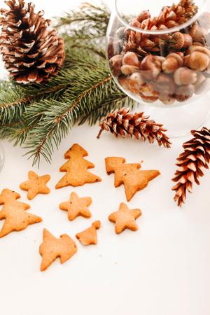 クリスマスクッキー 写真素材