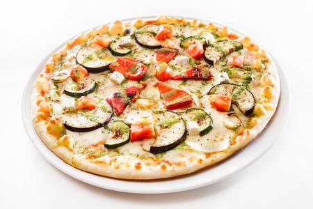 tasty pizza on white background