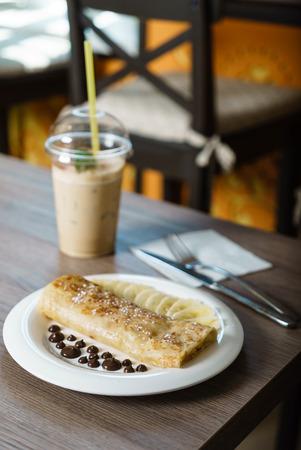 breakfast in the cafe Reklamní fotografie