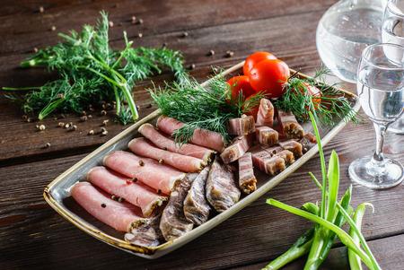 vlees voorgerecht Stockfoto