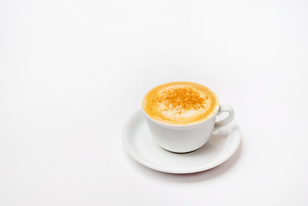 cappucino on the white on white background