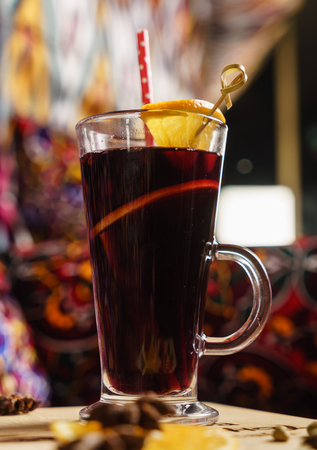 mulled wine in cup