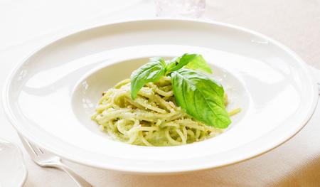 italian pasta with pesto